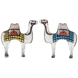 Abraham Palatnik Set of Two Camels Sculpture