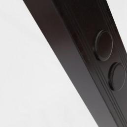 black steel floorlamp marked E