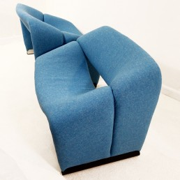 Pair of light blue Groovy Chairs by Pierre Paulin for Artifort