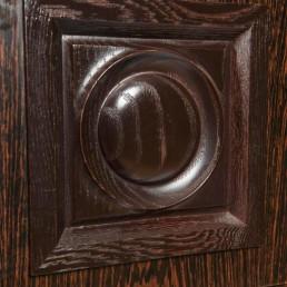 Brutalist ebonized Belgin cupboard