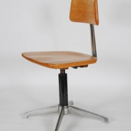 Midcentury Architect's Chair made of Stainless Steel and Wood named Sedus
