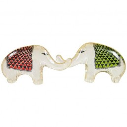 Two Adorable Elephant Calves Made Out of Lucite by Abraham Palatnik Brazil