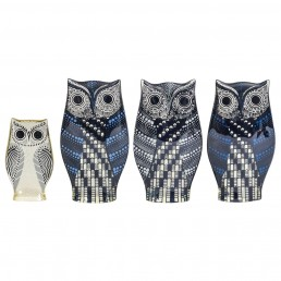 Set of Four Lucite Owls Designed by Abraham Palatnik