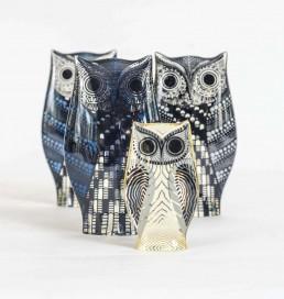 Set of Four Lucite Owls Designed by Abraham Palatnik