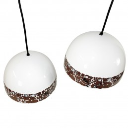 Enamel hanging lamp by Kaj Franck & Esteri Tomula for Wartsila