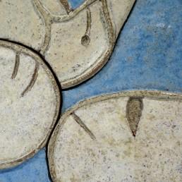 Big wall tile by Frouwen Visser