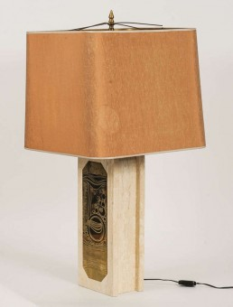 Hollywood Regency Marble-Table Lamp by Georges Mathias
