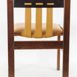 Set of 4 Midcentury Chairs with Leather Designed, Martin Visser for 't Spectrum