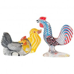 Abraham Palatnik Set of a Rooster, a Chicken and a Chick