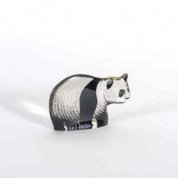 Adorable Panda Twins Made of Lucite by Abraham Palatnik