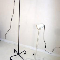 Pair of postmodern floor lamps Panto Beam by Danish designer Verner Panton