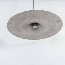 Sleek stainless steel pendant by Dutch designer Harco Loor