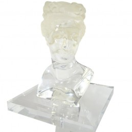 Perspex Bust of Woman on Console Also Made of Plexiglass Signed C.P.K. 3/160