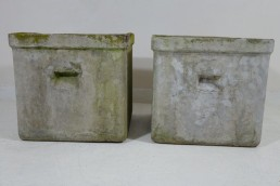 Pair of Two Large Midcentury Planters Jardinieres by Willy Guhl for Eternit