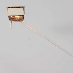 white steel floorlamp Stilnovo