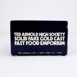 Ted Arnold High Society Solid Fake Gold Cast Fast Food Emporium, Ice Cream Cone