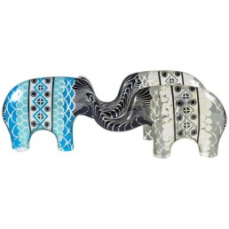 Set of Three Large Elephants in Lucite Made by Abraham Palatnik