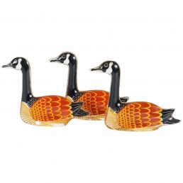 Three Beautiful Nile Geese Made of Lucite by Abraham Palatnik