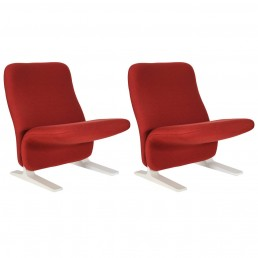 Set of Two Concorde Easy Chairs by Pierre Paulin for Artifort