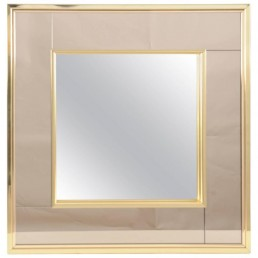 Two toned mirror with brass frame