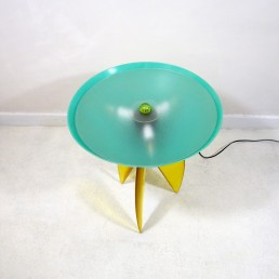 Resin and fiberglass tablelamp made by Stephen Zoller