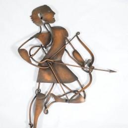 Detail Copper Art Work by Huibert Bernardus Wilhelmus De Ru.