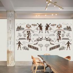 Huge wall-filling copper art work by Huibert Bernardus Wilhelmus de Ru