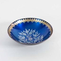 One piece of four beautiful enameled items made by Eva Scherer, Vienna, Austria