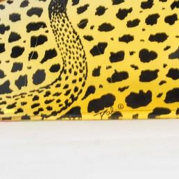Detail lucite leopard by Abraham Palatnik