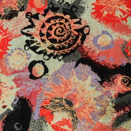 Detail rectangular wool rug designed by couturier Pierre Balmain.