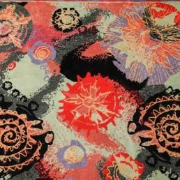Detail rectangular wool rug designed by couturier Pierre Balmain