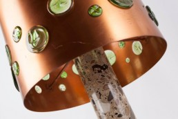 Detail midcentury table lamp designed by Nanny Still for RAAK, Amsterdam