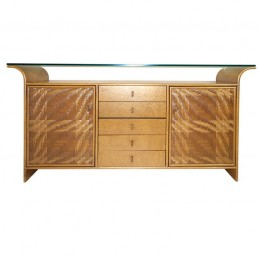 Hollywood Regency Faux bamboo and wood buffet