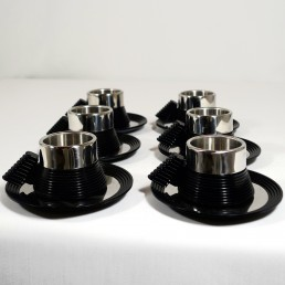 Postmodern Espresso Cups and a Serving Tray designed by Carlo Giannini