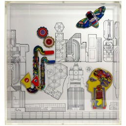 Wall Object 'Jahresobjekt in Keramik 1985' by Sir Eduardo Paolozzi for Rosenthal