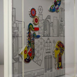 Wall Object 'Jahresobjekt in Keramik 1985' by Sir Eduardo Paolozzi for Rosenthal