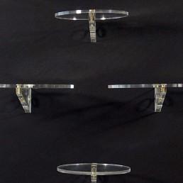 Set of sixteen Museum Display Holders made of Plexiglass