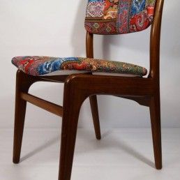 Set of 6 Midcentury Dining Chairs created by Louis Van Teeffelen for Wébé