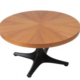 Adjustable Dining Table/Coffee Table made of plastic and wood by Ilse Möbler