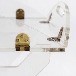 Plexiglass Tray on a Plexiglass Stand