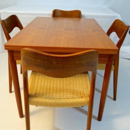 Midcentury Modern Scandinavian Teak Dining Table created by Niels O. Møller