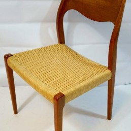 Set of four Midcentury Scandinavian Dining Chairs 71 by Niels O. Moller