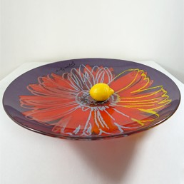 ANDY WARHOL DAISY GLASS BOWL FOR ROSENTHAL STUDIO LINE