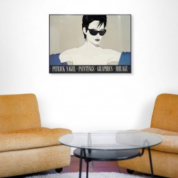 PATRICK NAGEL 'SUNGLASSES (BLACK)' POSTER, LIMITED EDITION OF 250