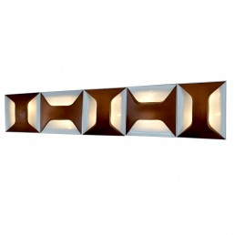 Set of 5 Big Steel Sconces or Ceiling Lamps by Dieter Witte for Staff Leuchten