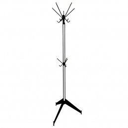Midcentury Black Metal and Brass Sputnik Style Coat Stand