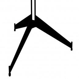Midcentury Black Metal and Brass Sputnik Style Coat Stand