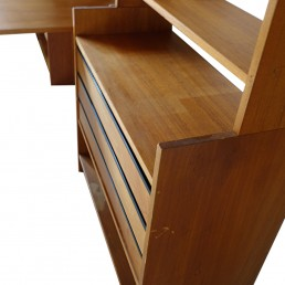 Midcentury Bookcases, Chests of Drawers and Table by Poul Cadovius for KLM/Deco