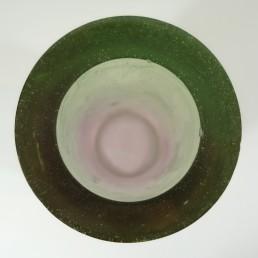 Green Purple Resin Vase Postmodern Memphis Style by Steve Zoller