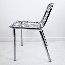 Unique Prototype Chair by Marcel Wanders with Chrome Flower Décor